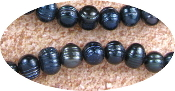 Black REAL Freshwater Pearl Beads 8-9mm approx 46pcs-Rosary beads too make rosaries Holy Beads