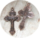 "as low as 98¢ COPPER Finish Pardon Crucifix 2"" INDULGENCE CRUCIFIX Cross"