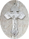 "98¢ SILVER Shiny Finish Pardon Crucifix 2"" INDULGENCE CROSS"