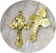 "98¢ ANTIQUE Gold Finish Catholic Pardon Crucifix cross 2"" INDULGENCE CRUCIFIX"