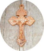 "Bright Copper Rose Gold Finish Pardon Crucifix 2"" INDULGENCE CRUCIFIX"