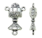 Chalice Antique Silver Communion Rosary CenterPieces