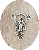 Lady of Grace Rosary Center Piece Parts 2.0cm Silver Antique