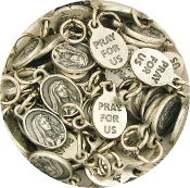 "50pcs/Pkg Tiny Oval Our Lady of Sorrows medal 1/2"" Italy"
