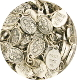 "50pcs/Pkg Tiny Oval Our Lady of Czestochowa charm 1/2"" Italy"