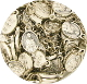 "50/Pkg Tiny Oval Saint Theresa medal Charm 1/2"" Italy"