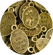 "as low as .59 each oval 1"" St Francis Pet medal BRONZE BLESS AND PROTECT MY PET"