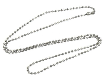 "30"" Ball Chain Silver Finish for Catholic Religious Medals"