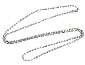 "24"" Ball Chain Silver Finish for Catholic Religious Medals-Stainless Steel Chain Necklace Dazzling Brilliant silver finish chain 2.40mm- You Can Cut to any length"