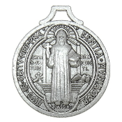 Saint Benedict Medal Jubilee Antique Silver Finish 1 1/4""