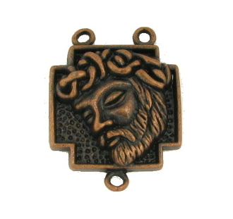 Inexpensive Rosary Centers to make rosaries- Copper Finish-Center Rosary parts -Ecce Homo Holy Face Thorns Rosary Center 2.0cm