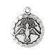 Holy Spirit Antique Silver Finish Round Pendant Charm 3/4""