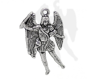 Saint Michael the Archangel Small Charm to make Rosary Bracelets Rosary parts or necklace Beautiful intricate designs Fine detailed Silver metal of Saint Michael Catholic Medals