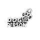 50/Pkg Dog Person Charm Antique Silver finish W-1.8cm