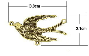 Holy Spirit Bronze Finish Rosary Centerpieces 3.8x2.1cm Rosary Centerpieces 1.6cm Rosary Parts Wholesale bulk prices