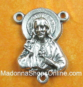 Magnificent Sacred Heart Of Jesus Centers 2.0cm Rosary Centers rosary making parts
