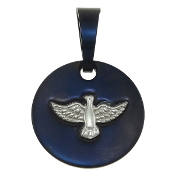 "Holy Spirit Medal Stainless Steel 13/16"" Two-Tone Finish"