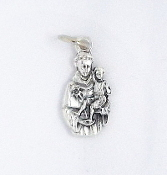 10/Pc TINY Saint Anthony of Padua Charm Silver Oxidized medals 1.8cm-This exceptionally detailed Medal is made in the region of Italy that produces the finest quality medals in the world. The silver oxidized finish has been perfected...