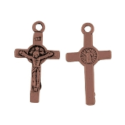 rosary parts Saint Benedict Crucifix 1.9x1.2cm Copper Finish wholesale