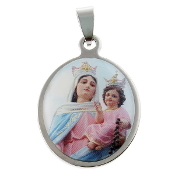 Miaraculous Medals Lady of Grace Charms Imported from Italy Inexpensive Blessed Virgin Mary Medals Silver Oxidized, Gold, Blue, Red, Green, Yellow, Orange, Pink enamel epoxy Tiny charms