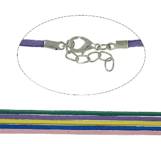 "100/Pkg -17.5"" Fashion Necklace Cord, Velveteen Mixed Colors"