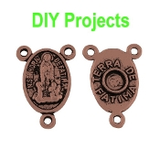 DIY Fatima Copper Finish Rosary Centerpieces 1.6cm Rosary Parts