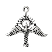Holy Spirit Antique Silver Finish Pendant Charm 2.0cm