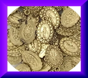 100/Pkg Miniature Miraculous medal 1.2x0.9cm Antique Gold Finish- Oval Finish Inexpensive Tiny Miraculous medal- Great for watch, Bracelets, favors-Our Smallest Medal oval-Tiny Miraculous medal