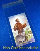 "Prayer for my Pet St Francis of Assisi Paper Holy Card (Packed 100 to a pack) Printed in Italy 2 1/4"" x 4"" Catholic Prayer cards Inexpensive Bulk Packs Protect your pet with Saint Francis Feast day October 4th"