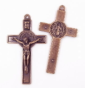 St Benedict Crucifix Jubilee Cross Copper Finish 2 3/4 x1 11/16""