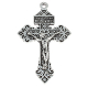 "85¢ Deluxe Pardon Crucifixes with Silver Antique Finish 2"" cross INDULGENCE CRUCIFIXES for pendants, making rosaries etc"