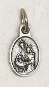 50/Pkg Tiny Oval Holy Family medal Tiny Oval 1.1cm Italy