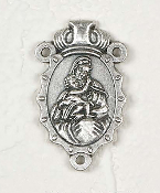 Deluxe Madonna/child Medal Centerpiece Rosary Parts 2.8x1.8cm