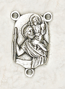 Deluxe St Christopher Centerpiece Rosary Parts 2.3x1.6cm