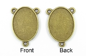 BRONZE Finish-Add your picture Rosary Center blanks BRONZE Finish. Now Make you own centerpieces - Wholesale Rosary Parts 3 eyelets