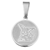 Saint Michael medal St Michael medal 100% Stainless steel Silver Finish 1.5cm round