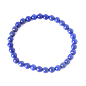Real Gemstone Lapis Lazuli Bracelet Approx 7.5 Inch 6mm beadrosary parts and supplies Elastic Stretch Bracelet.