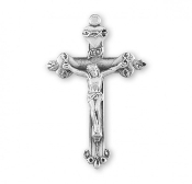 "Rosary parts to make rosaries crucifixes rosary making supplies Sacred Hearts Sterling Silver Crucifix cross 1.8"" x 1.2"""