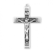 Rosary parts Holy Spirit Halo Sterling Silver Crucifix