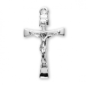 crucifixes rosary making supplies Sterling Silver Narrow Crucifix
