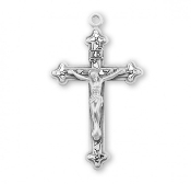 Rosary parts to make rosaries Ornate Vine and Leaf Pattern Sterling Silver Crucifix
