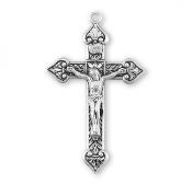 "Rosary parts to make rosaries crucifixes Leaf Design Sterling Silver Crucifix 2.1"" x 1.3"""