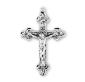 Reliefed Leaf solid Sterling Silver Crucifix Rosary parts to make rosaries crucifixes