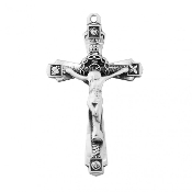 Rosary parts to make rosaries crucifixes Wheat design crucifix in Sterling Silver