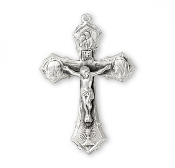 Rosary parts to make rosaries crucifixes rosary making supplies Jesus-Mary-Joseph Sterling Silver Rosary Crucifix