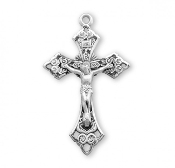 "Rosary parts to make rosaries crucifixes rosary making supplies Swirl detailed Sterling Silver Rosary Crucifix 2.1"" x 1.3"""
