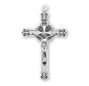 "Rosary parts to make rosaries crucifixes rosary making supplies Sterling Silver fancy Swirl Tip Crucifix 1.6"" x 1.0"""