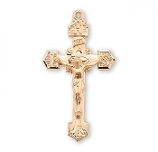 "Rosary parts to make rosaries crucifixes rosary Sterling Silver Crucifixes-16kt Gold over Sterling Silver IHS Crucifix 1.7"" x 0.9"""