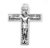 "Rosary parts to make rosaries crucifixes rosary making supplies Traditional Stat Crux Dum Volvitur Orbis Sterling Silver Crucifix 1.5"" x 1.3"""