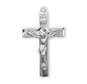 "Rosary parts to make rosaries crucifixes rosary making supplies Traditional Sterling Silver Detailed Crucifix 1.6"" x 1.0"""